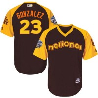 Youth Los Angeles Dodgers #23 Adrian Gonzalez Brown 2016 All-Star National League Stitched Baseball Jersey