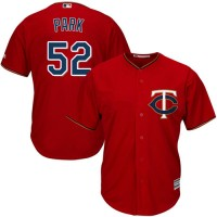 Youth Minnesota Twins #52 Byung-Ho Park Red Cool Base Stitched MLB Jersey