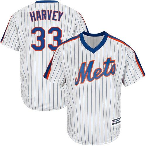 fc0478c0c73 Youth New York Mets  33 Matt Harvey White(Blue Strip) Alternate Cool Base  Stitched MLB Jersey