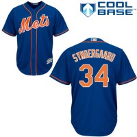 Youth New York Mets #34 Noah Syndergaard Blue Cool Base Stitched MLB Jersey