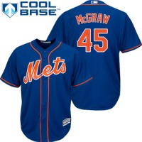Youth New York Mets #45 Tug McGraw Blue Cool Base Stitched MLB Jersey