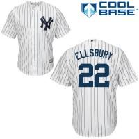 Youth New York Yankees #22 Jacoby Ellsbury White Stitched MLB Jersey