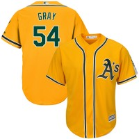 Youth Oakland Athletics #54 Sonny Gray Gold Cool Base Stitched MLB Jersey