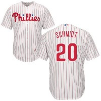 Youth Philadelphia Phillies #20 Mike Schmidt White(Red Strip) Cool Base Stitched MLB Jersey