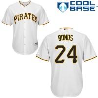 Youth Pittsburgh Pirates #24 Barry Bonds White Cool Base Stitched MLB Jersey