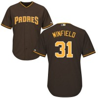 Youth San Diego Padres #31 Dave Winfield Brown Cool Base Stitched MLB Jersey