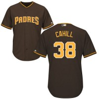 Youth San Diego Padres #38 Trevor Cahill Brown Cool Base Stitched MLB Jersey