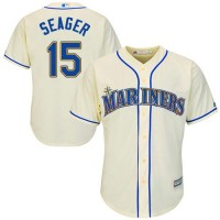 Youth Seattle Mariners #15 Kyle Seager Cream Cool Base Stitched MLB Jersey