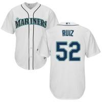 Youth Seattle Mariners #52 Carlos Ruiz White Cool Base Stitched MLB Jersey