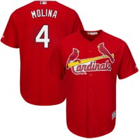 Youth St.Louis Cardinals #4 Yadier Molina Red Cool Base Stitched MLB Jersey