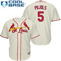 Youth St.Louis Cardinals #5 Albert Pujols Cream Cool Base Stitched MLB Jersey