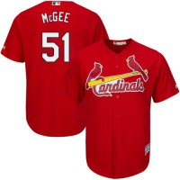 Youth St.Louis Cardinals #51 Willie McGee Red Cool Base Stitched MLB Jersey
