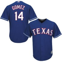 Youth Texas Rangers #14 Carlos Gomez Blue Cool Base Stitched MLB Jersey