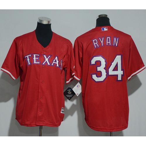 the latest 0222c 74d48 Youth Texas Rangers #34 Nolan Ryan Red Cool Base Stitched ...