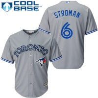 Youth Toronto Blue Jays #6 Marcus Stroman Grey Cool Base Stitched MLB Jersey