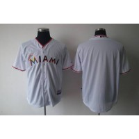 marlins #00 None Player White 2012 Home Stitched Baseball Jersey