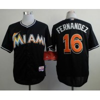 marlins #16 Jose Fernandez Black Alternate 2 Stitched Baseball Jersey