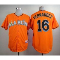 marlins #16 Jose Fernandez Orange Alternate 1 Stitched Baseball Jersey