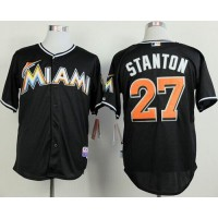marlins #27 Giancarlo Stanton Black 2012 Alternate Stitched Baseball Jersey
