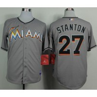 marlins #27 Giancarlo Stanton Grey 2012 Road Stitched Baseball Jersey