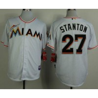 marlins #27 Giancarlo Stanton White 2012 Home Stitched Baseball Jersey