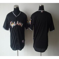 marlins Blank Black 2012 Alternate Stitched Baseball Jersey