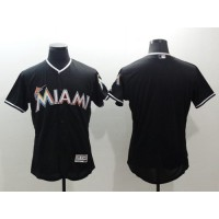 marlins Blank Black Flexbase Authentic Collection Stitched Baseball Jersey