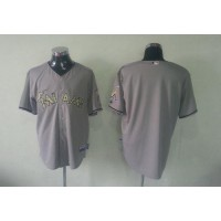 marlins Blank Grey USMC Cool Base Stitched Baseball Jersey
