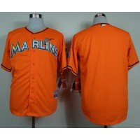 marlins Blank Orange Cool Base Stitched Baseball Jersey