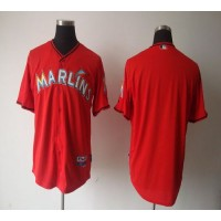marlins Blank Red 2012 Alternate Stitched Baseball Jersey