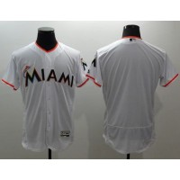 marlins Blank White Flexbase Authentic Collection Stitched Baseball Jersey