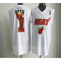 2012 NBA Finals Heat #1 Chris Bosh White Stitched NBA Jersey