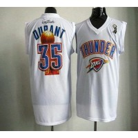 2012 NBA Finals Thunder #35 Kevin Durant White Stitched NBA Jersey