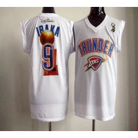 2012 NBA Finals Thunder #9 Serge Ibaka White Stitched NBA Jersey