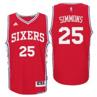 2016 NBA Draft Philadelphia 76ers #25 Ben Simmons Alternate Red Swingman Jersey