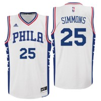 2016 NBA Draft Philadelphia 76ers #25 Ben Simmons Home White Swingman Jersey