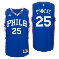 2016 NBA Draft Philadelphia 76ers #25 Ben Simmons Road Royal Swingman Jersey