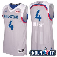 2017 All-Star Eastern Conference Atlanta Hawks #4 Paul Millsap Gray Stitched NBA Jersey