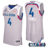 2017 All-Star Eastern Conference Boston Celtics #4 Isaiah Thomas Gray Stitched NBA Jersey