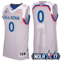 2017 All-Star Eastern Conference Cleveland Cavaliers #0 Kevin Love Gray Stitched NBA Jersey