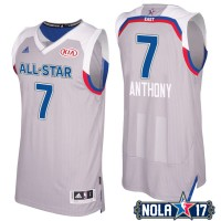 2017 All-Star Eastern Conference New York Knicks #7 Carmelo Anthony Gray Stitched NBA Jersey