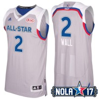 2017 All-Star Eastern Conference Washington Wizards #2 John Wall Gray Stitched NBA Jersey