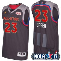 2017 All-Star Western Conference Golden State Warriors #23 Draymond Green Charcoal Stitched NBA Jersey