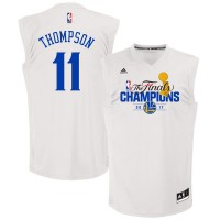 Golden State Warriors #11 Klay Thompson White 2017 NBA Champions Jersey