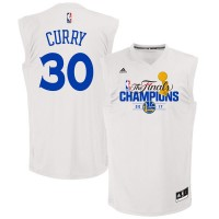 Golden State Warriors #30 Stephen Curry White 2017 NBA Champions Jersey