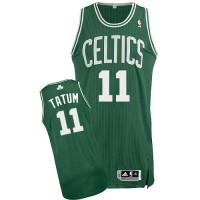 Boston Celtics #11 Jayson Tatum Green Stitched NBA Jersey