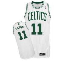 Boston Celtics #11 Jayson Tatum White Stitched NBA Jersey