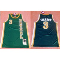 76ers #3 Allen Iverson Green Bethel High School Stitched NBA Jersey