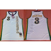 76ers #3 Allen Iverson White Bethel High School Stitched NBA Jersey