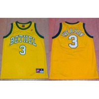 76ers #3 Allen Iverson Yellow Bethel High School Stitched NBA Jersey